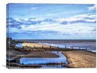 Mood on Mundesley Beach, Canvas Print