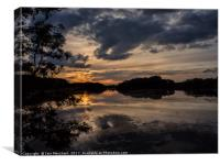Sunset over Swithland, Canvas Print
