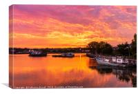 Sunset over the Itchen River in Southampton, UK, Canvas Print