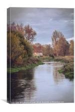 Itchen River during autumn, Canvas Print