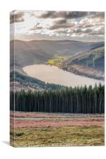 View across the Talybont Reservoir in South Wales, Canvas Print