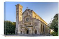 St Mary and St Nicholas' Church in Wilton, England, Canvas Print