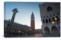 St Marks Square at dusk, Canvas Print