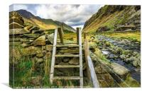 Afon Nant Peris, Canvas Print