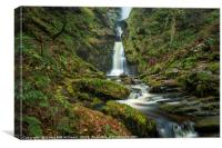 Pistyll Rhaeadr Waterfall, Canvas Print
