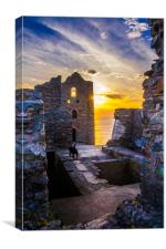 Wheal Coates at Sunset - inside the Engine House, Canvas Print