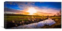 River Rother Evening, Canvas Print