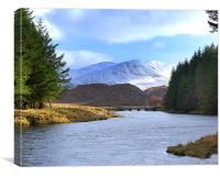 RIVER LAXFORD AND ARKLE , Canvas Print