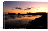 Hastings Harbour Arm at sunset, Canvas Print