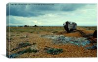 Shipwrecked boat at Dungeness, Canvas Print
