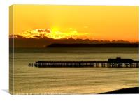 Hastings Pier at sunset, Canvas Print