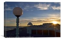 Bexhill Colonnade sunset , Canvas Print
