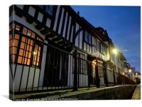 Hastings Old Town at dusk, Canvas Print