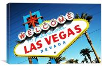 Welcome To Vegas Baby, Canvas Print