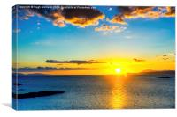 Sunset, Piont of Sleat, Skye, (HMcK 20140626), Canvas Print