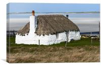 Thatched cottage, Canvas Print