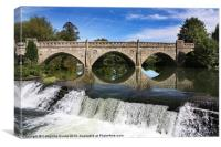 Bathampton Weir and Toll Bridge, Canvas Print