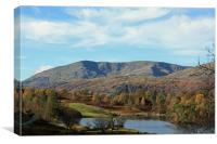 Tarn Hows looking at Wetherlam, Canvas Print