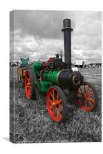 Steam Tractor., Canvas Print