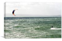 Kite Surfing, Canvas Print