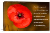 Remembrance, Canvas Print