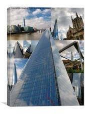 Collage of images of the Shard, Canvas Print