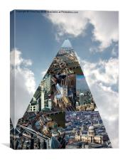 Collage as seen from the Shard, Canvas Print