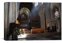 Winchester Cathedral Altar, Canvas Print