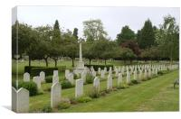 War Graves in Northwood Cemetery, Canvas Print