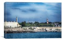 Plymouth Hoe and seafront , Canvas Print