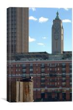 Oxo Tower and admirer, Canvas Print