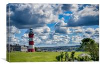 Plymouth Hoe and Smeatons Tower, Canvas Print