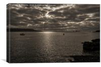 Plymouth Sepia Sound, Canvas Print