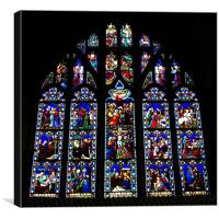 Christchurch Priory stained glass window, Canvas Print