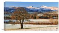 First snow of the year in the Brecon beacons., Canvas Print