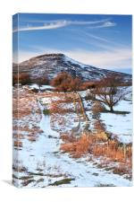 The Sugar Loaf Mountain in winter, Abergavenny., Canvas Print