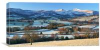 Brecon Beacons on an early winter morning., Canvas Print