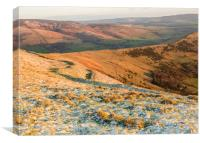 Peak District from Mam Tor, Canvas Print