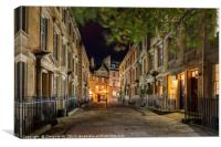 The North Parade and Sally Lunn's , Canvas Print