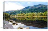 Banks of Loch Lubnaig in Scotland, Canvas Print