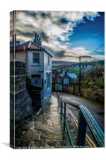 Whilst Out Walking in Robin Hood's Bay, Canvas Print