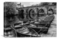 Durham in Black and White, Canvas Print