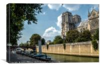 Notre Dame and the Seine, Canvas Print