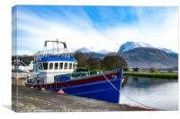 Corpach in Winter, Canvas Print