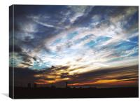 Windscale sunset, Canvas Print