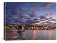 Blakeney at Night, Canvas Print