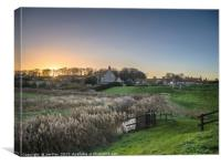 The  village of Cley next the Sea, Canvas Print