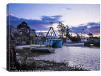 Brancaster Staithe at Dusk, Canvas Print
