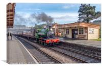 All Aboard at Weybourne, Canvas Print