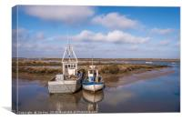 Spring time at Brancaster Staithe , Canvas Print